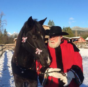 Photos with the horses and Santa Karl